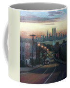 Victory Boulevard At Dawn Coffee Mug by Sarah Yuster