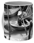 Vietnamese Woman Boat Ores Really For Tourist Mekong Delta  Coffee Mug