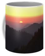 View From Moro Rock Of Sunset Sky Coffee Mug