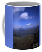 View From Summit Of Ben Arthur The Cobbler  Towards Loch Long Arrochar Loch Lomond And Ben Lomond Coffee Mug