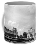 View From The Louvre In Black And White Coffee Mug