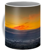 View From The Top Of Glastonbury Tor At Sunrise Coffee Mug