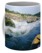 View From Whitewater Kayak At The Top Coffee Mug