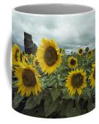 View Of A Field Of Sunflowers Coffee Mug