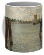 View Of A Harbour On The North Sea Coffee Mug