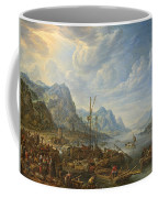 View Of A River With Boat Moorings Coffee Mug