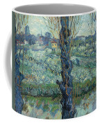 View Of Arles, Flowering Orchards Coffee Mug