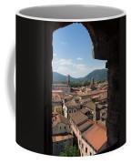 View Of Buildings Through Window Coffee Mug