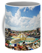 View Of Central Market Landmark In Phnom Penh City Cambodia Coffee Mug