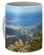 View Of City From Mountain Top Coffee Mug