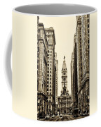 View Of Cityhall From Broad Street In Philadelphia Coffee Mug by Bill Cannon
