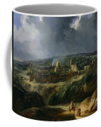 View Of Jerusalem From The Valley Of Jehoshaphat Coffee Mug by Auguste Forbin