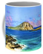 View Of Makapuu And Rabbit Island Coffee Mug