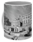 View Of Montgomery County Courthouse From The Southside In Black Coffee Mug