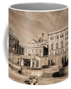 View Of Montgomery County Courthouse From The Southside In Sepia Coffee Mug