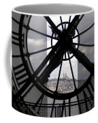 View Of Montmartre Through The Clock At Museum Orsay.paris Coffee Mug