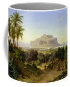 View Of Palermo With Mount Pellegrino Coffee Mug by August Wilhelm Julius Ahlborn
