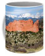 View Of Pikes Peak And Garden Of The Gods Park In Colorado Springs In Th Coffee Mug