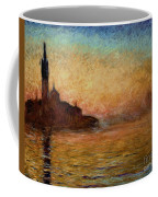 View Of San Giorgio Maggiore Venice By Twilight Coffee Mug by Claude Monet