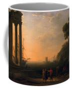 View Of Seaport Coffee Mug by Claude Lorrain