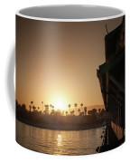 View Of Setting Sun Over Santa Barbara, Ca Coffee Mug