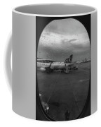 View Of The Aircraft Through The Window With Raindrops Coffee Mug