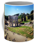 View Of The Arch Of Constantine From The Colosseum Coffee Mug