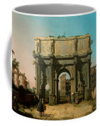 View Of The Arch Of Constantine With The Colosseum Coffee Mug
