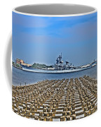 View Of The Battleship New Jersey From Philadelphia Coffee Mug