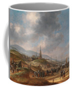 View Of The Beach At Scheveling Coffee Mug