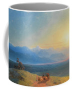 View Of The Caucasus With Mount Kazbek In The Distance Coffee Mug