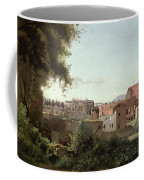 View Of The Colosseum From The Farnese Gardens Coffee Mug by Jean Baptiste Camille Corot