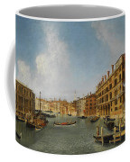 View Of The Grand Canal Venice With The Fondaco Dei Tedeschi Coffee Mug