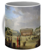 View Of The Grand Theatre Constructed In The Place De La Concorde For The Fete De La Paix Coffee Mug