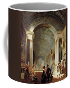 View Of The Grande Galerie Of The Louvre Coffee Mug