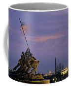 View Of The Iwo Jima Monument Coffee Mug by Kenneth Garrett