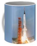 View Of The Liftoff Of Mercury-atlas 5 Coffee Mug
