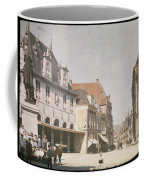 View Of The Market Horn  With The Statue Of Jan Pietersz Coen And The Waag Anonymous  1907   1930 Coffee Mug