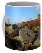 View Of The Mother Cap Gritstone Rock Formation, Millstone Edge Coffee Mug