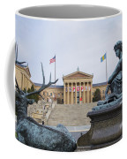 View Of The Museum Of Art In Philadelphia From The Parkway Coffee Mug