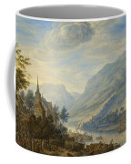 View Of The Rhine River Near Reineck Coffee Mug