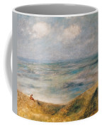 View Of The Sea Guernsey Coffee Mug by Pierre Auguste Renoir