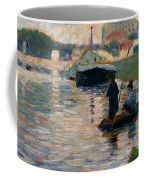 View Of The Seine Coffee Mug by Georges-Pierre Seurat