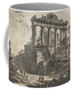 View Of The So-called Temple Of Concord With The Temple Of Saturn, On The Right The Arch Of Septimiu Coffee Mug