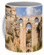 View Of The Tajo De Ronda And The Puente Nuevo Bridge From Across The Valley Coffee Mug