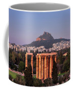 View Of The Temple Of Olympian Zeus And Mount Lycabettus In The  Coffee Mug