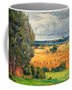 View Of Vadstena From The Surrounding Fields Coffee Mug