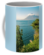 View Of Volcano San Pedro With A Crown Of Clouds In Guatemala Coffee Mug