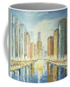 View Up The Chicago River Coffee Mug