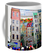 Viewing A Mural At La Fresque Des Quebecois Coffee Mug